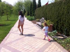 Nature walk through Wegerzyn Gardens with Auntie N