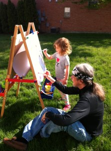 Outdoor painting with Grandpa