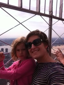Miss M & I at the top of the Empire State Building!