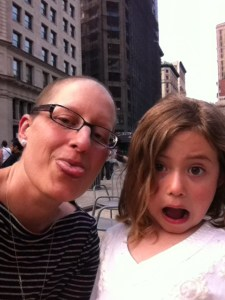 Miss M and I at Madison Square Park on a recen