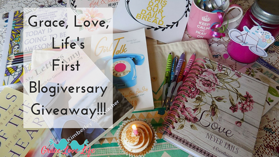 Grace, Love, Life's First Blogiversary + A Giveaway!