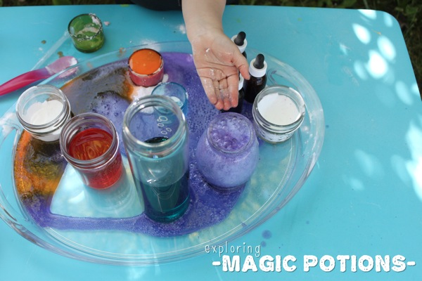 Exploring with Magic Potions