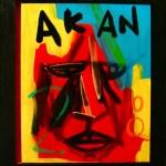 Akan   50cm x 41cm   Acrylic, gloss & mixed media on board   2008