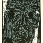 I am not afraid | linocut, screenprint | 1995
