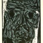 I am not afraid | linocut, screenprint | 1995