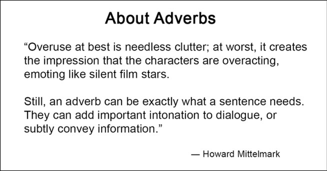 mittelmark on adverbs