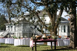 outdoor wedding reception at The Grand Magnolia House