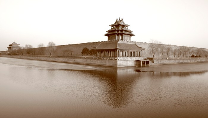Despite Beijing becoming one of the world's fastest modernising cities it retains some timeless scenes. One is the north west corner of the Forbidden City which seems to retain a timeless feel.