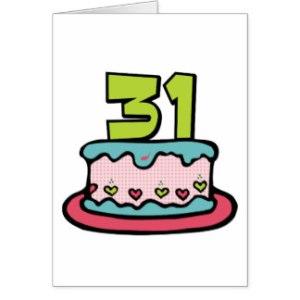 31  birthday cake
