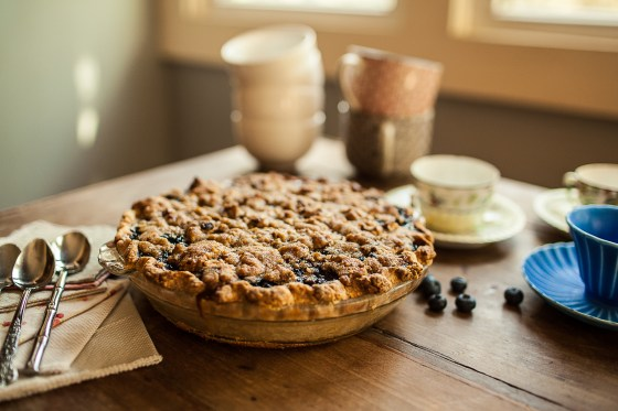 Granola Girl bakes || Blueberry Custard Pie-09