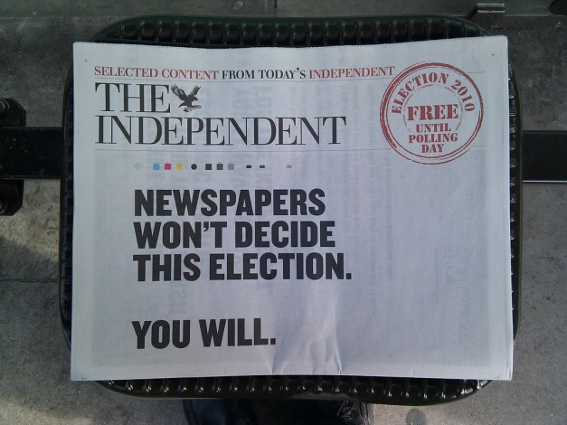 the independent orange 2010 election special ! CC BY Clive Darra