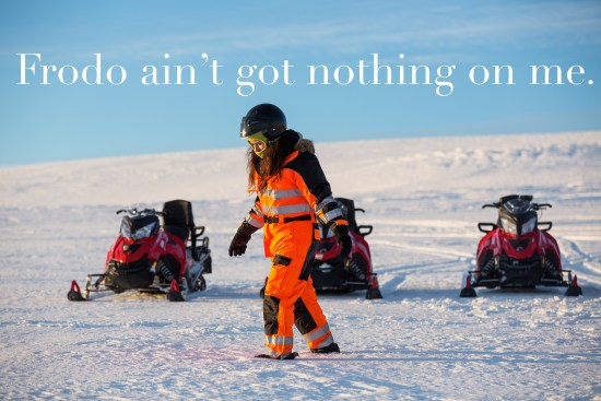 Hannah Jane Cohen snowmobiling by Art Bicnick
