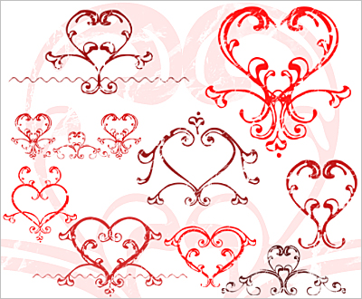 Love hearts - Valentine's day Photoshop brush
