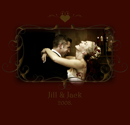 Wedding photo album cover