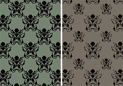 Damask Patterns by Gordeee
