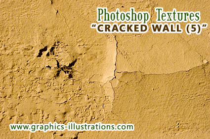 Photoshop Texture Brush: Cracked Wall