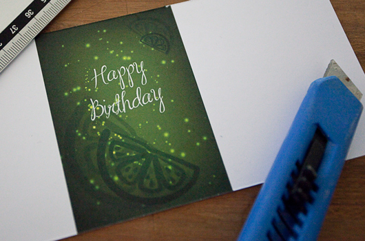 Birthday (gift) card and envelope