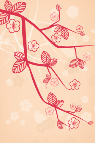cherry blossoms April iPhone wallpaper