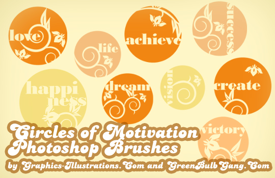 Circles of Motivation Photoshop brushes, free wordart