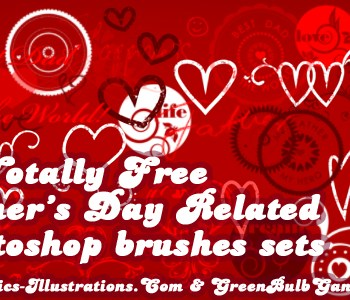 """10 Free Father's Day Photoshop Brushes Sets; [Set 10/10 """"Letter blocks""""]"""