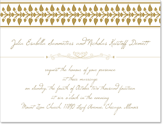 Wedding Invitation Template Design and Photoshop Brushes