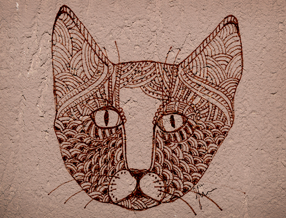 CatArt by bsilvia – Zentangle Cat. No. 2