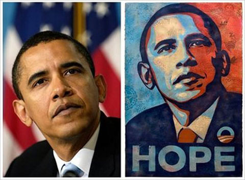 Barack Obama Shepard Fairey 'Hope' Poster
