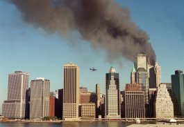 Moments before Flight 175 hit the South Tower of the World Trade Center