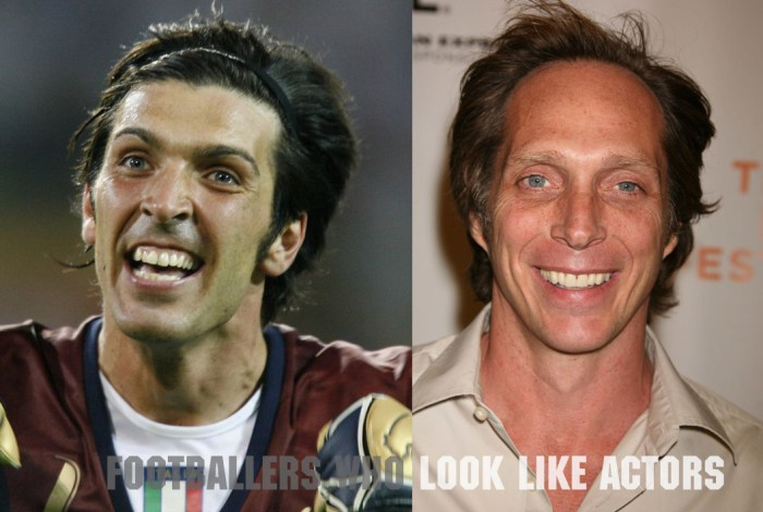 Italy legend Gianluigi Buffon and William Fichtner