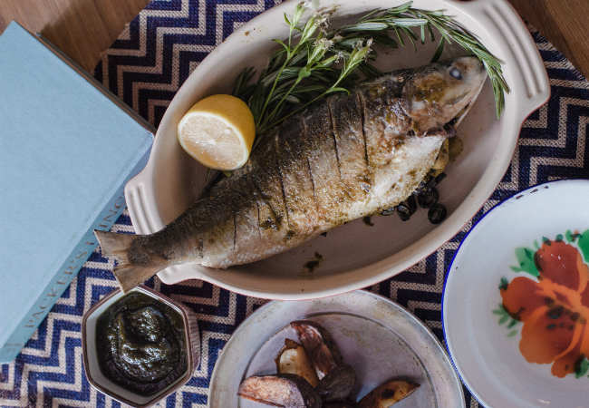 Roast Milkfish With Lemon And Thyme