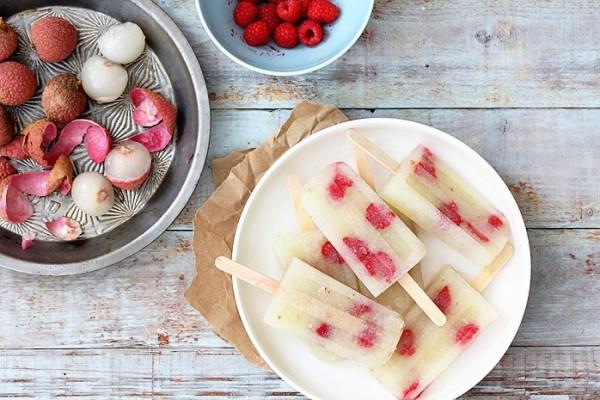 Lychee Saketini cocktail-popsicles