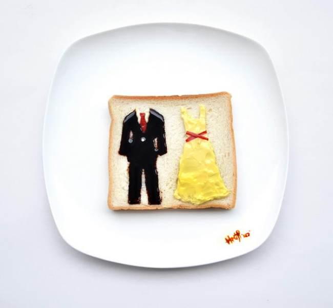 Food art: butter half by hong yi