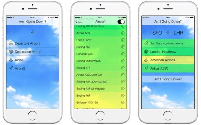 am-i-going-down-app-screens