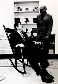 Ronald Reagan and Sam Maloof