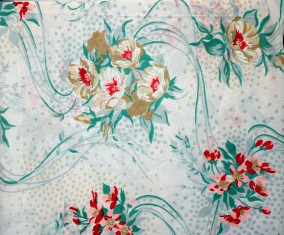 aqua floral chiffon