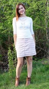 Plaid Moss Mini Skirt
