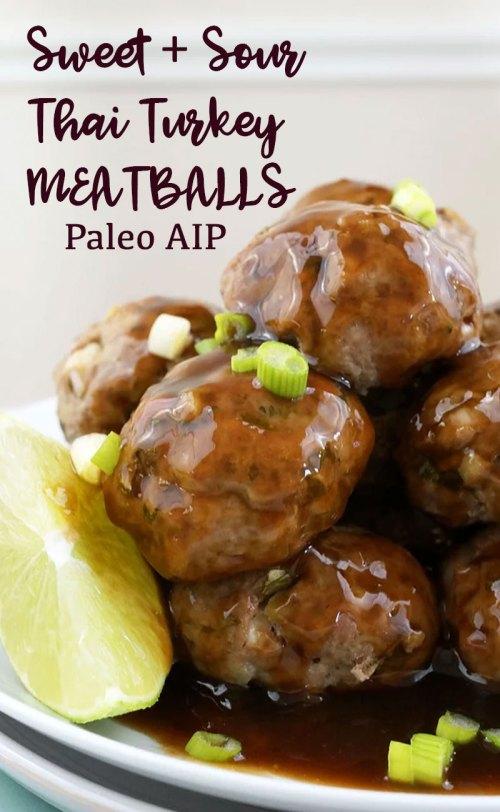 Medium Of Asian Turkey Meatballs