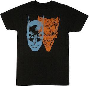 Batman And The Joker Faces T-Shirt