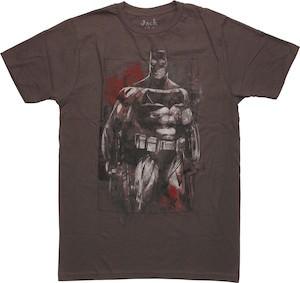 Batman And Batman V Superman logo T-Shirt