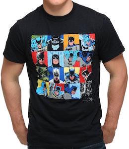 Batman Faces Through Time T-Shirt