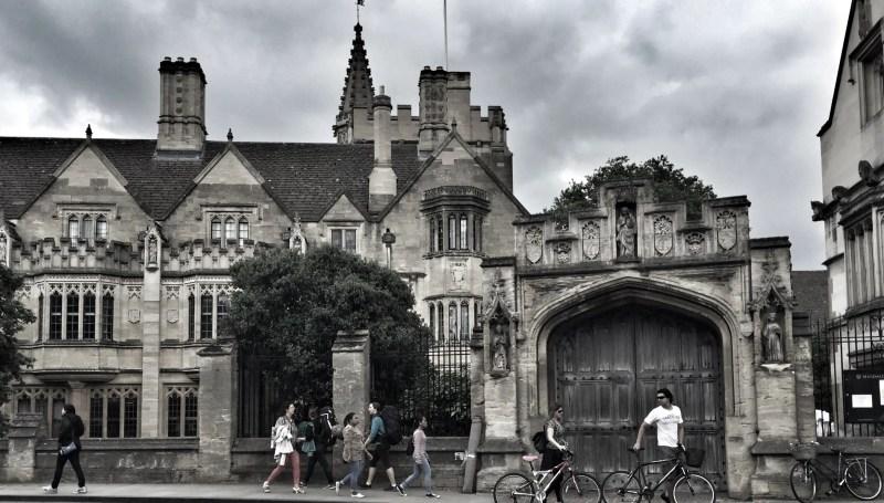 Walking along High street in Oxford