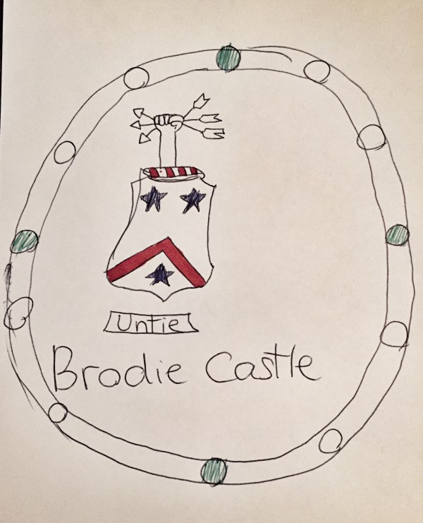 Brodie Family Crest - 2 Plates in the dining room were misspelled by workers in China