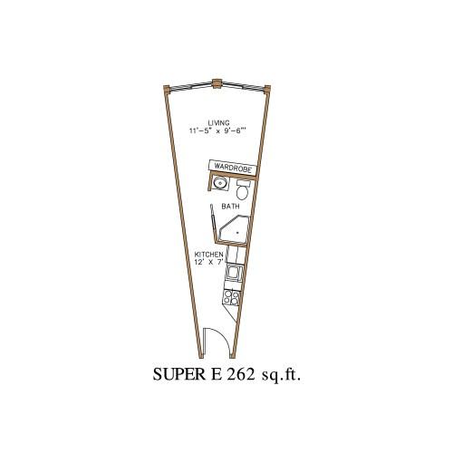 Medium Crop Of Efficiency Apartment Floor Plan