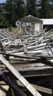 The Actual Fallen Building (Amateur Photograph)