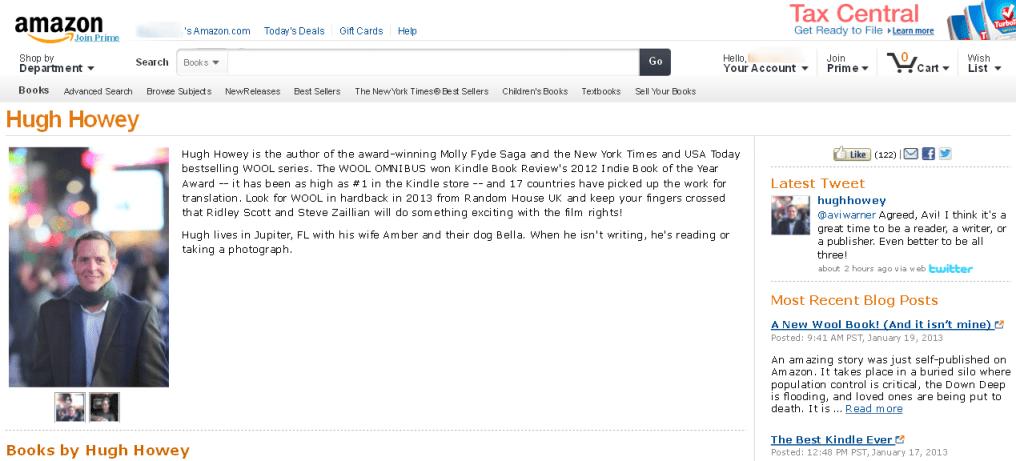 Hugh Howey Author Page