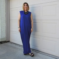 Outfit // Acne Studios dress in ROYAL BLUE