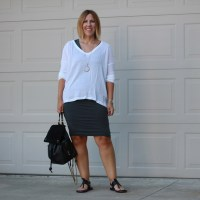 Outfit // James Perse Boxy Collage Top
