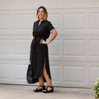 Outfit | Reformation Surplus Cotton Dress