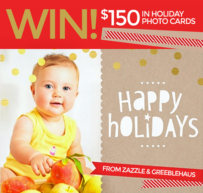 Win $150 in photo holiday cards from Zazzle!