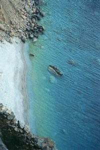 beach under the Monastery in Amorgos